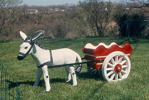 A very fine example of a planter donkey