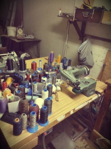Inside Mr Galati's workshop